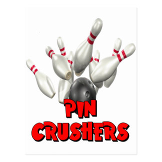 Pin Crushers Bowling Postcard