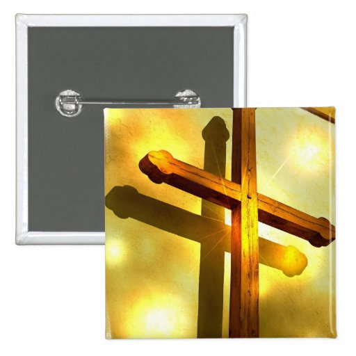 Pin cruzado de oro del cuadrado