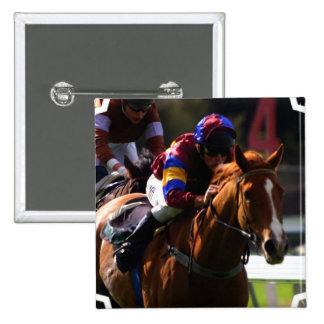 Pin cuadrado de la carrera de caballos