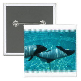 Pin cuadrado de las ballenas subacuáticas