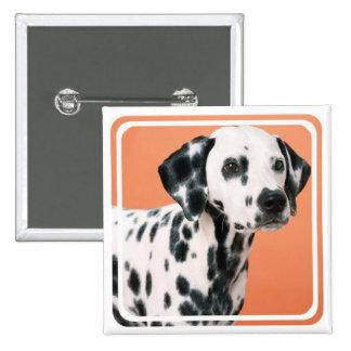 Pin cuadrado de los perritos dálmatas pin cuadrada 5 cm