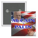Pin cuadrado de Mccain Palin