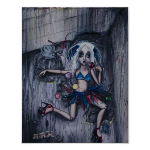 """""""Pin Cushion Doll4"""" poster print of oil painting"""