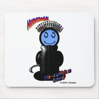 Pin-Cushion Head (with logos) Mouse Pad