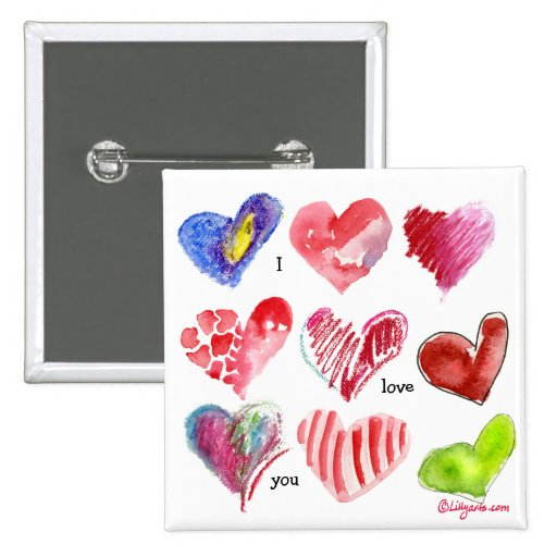 Pin de 9 corazones de la tarjeta del día de San Va