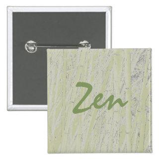 """Pin de bambú del cuadrado del """"zen"""""""