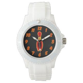 Pin de bolos de neón del vintage relojes de pulsera