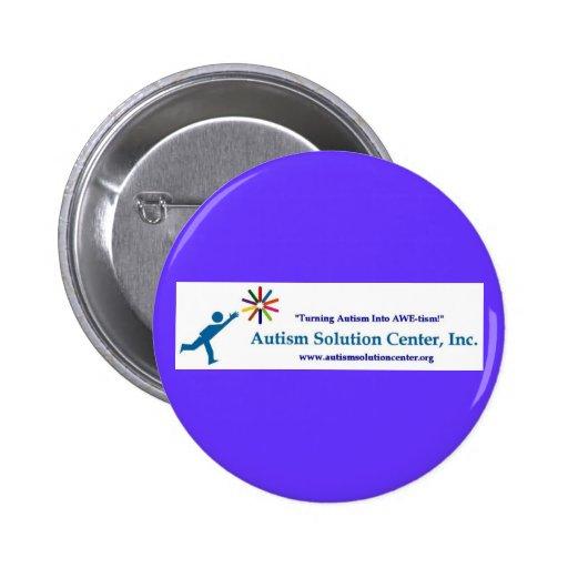 Pin de centro de las soluciones del autismo