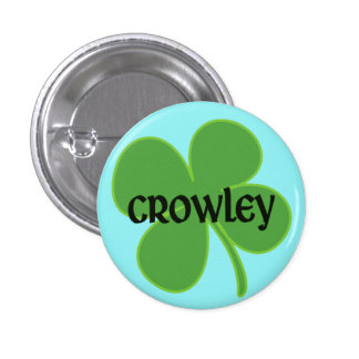 Pin de Crowley del trullo con el trébol Pin Redondo 2,5 Cm
