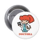 Pin de doctora pin redondo 5 cm