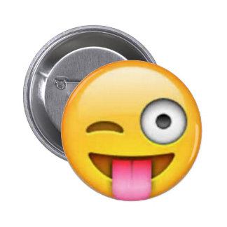 Pin de Emoji de la lengua