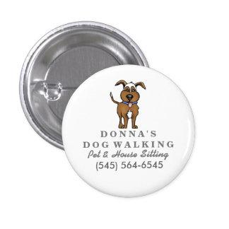 Pin de encargo del negocio del perro - perro lindo pin redondo 2,5 cm