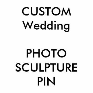 Pin de encargo del recorte de la escultura de la pin fotoescultura