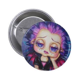 Pin de hadas del arte de la fantasía de Lil Gothie Pin Redondo 5 Cm
