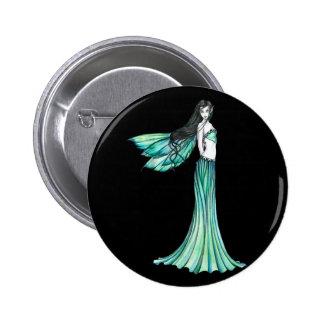 Pin de hadas verde del botón