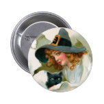 Pin de Halloween de la bruja del vintage