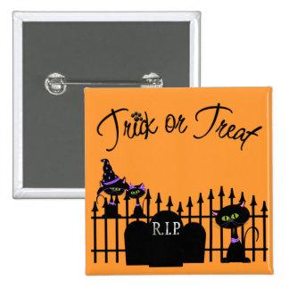 Pin de Halloween de la Truco-o-Invitación Pin Cuadrada 5 Cm