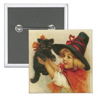 Pin de Halloween del vintage Pin Cuadrada 5 Cm
