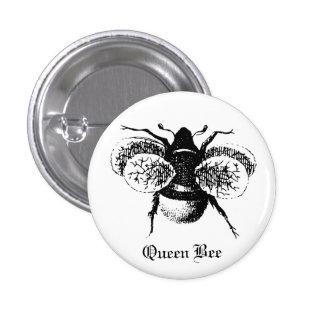 Pin de la abeja reina pin redondo 2,5 cm