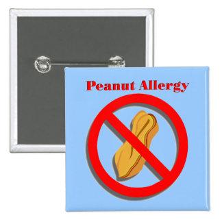 Pin de la alergia del cacahuete en azul