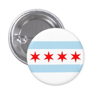 PIN DE LA BANDERA DE CHICAGO PIN REDONDO 2,5 CM