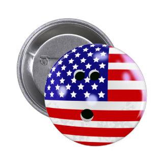 Pin de la bola de bolos (los E.E.U.U.) Pin Redondo 5 Cm