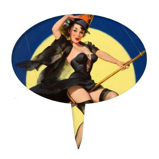 Pin de la bruja de Halloween encima del chica Figuras Para Tartas