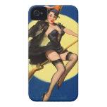 Pin de la bruja de Halloween encima del chica Case-Mate iPhone 4 Carcasas