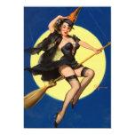 Pin de la bruja de Halloween encima del chica Comunicados Personales