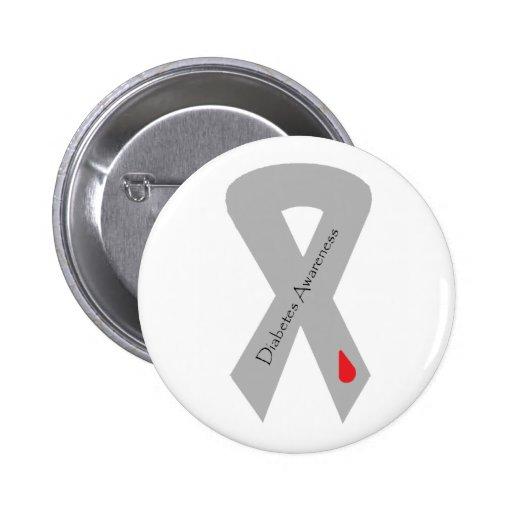 Pin de la cinta de la conciencia de la diabetes