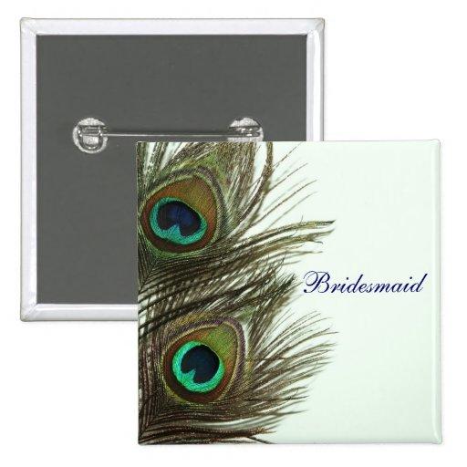 Pin de la dama de honor de la pluma del pavo real