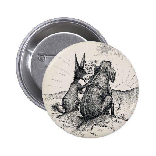 Pin/de la elección del elefante del burro pin redondo 5 cm