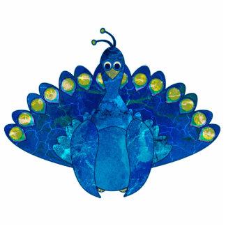 Pin de la escultura del azul de pavo real fotoescultura vertical