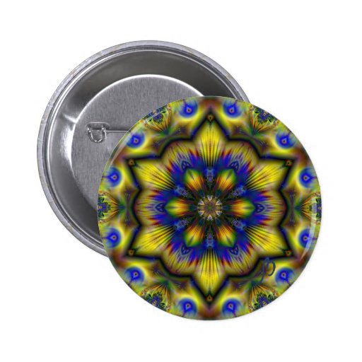 Pin de la estrella del pavo real pin redondo 5 cm
