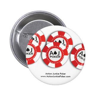 Pin de la ficha de póker