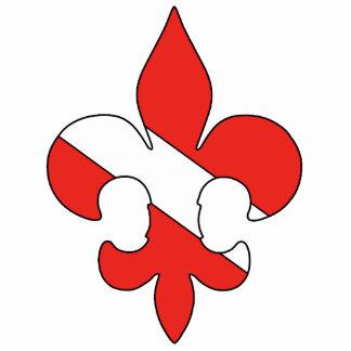 Pin de la flor de lis de la bandera de la zambulli pin fotoescultura