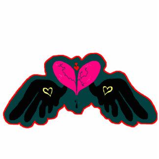 Pin de la forma de HeartWings Escultura Fotografica