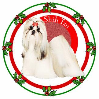 Pin de la foto del navidad de Shih Tzu Pin Fotoescultura