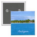 Pin de la isla de Antigua Pin Cuadrada 5 Cm