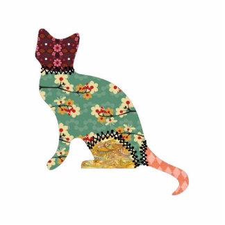 Pin de la joyería del mascota del remiendo del gat esculturas fotograficas