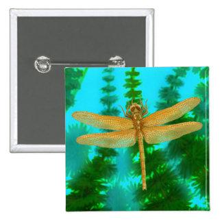Pin de la libélula del oro