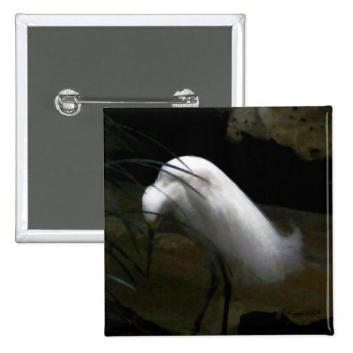 Pin de la moda del Egret nevado