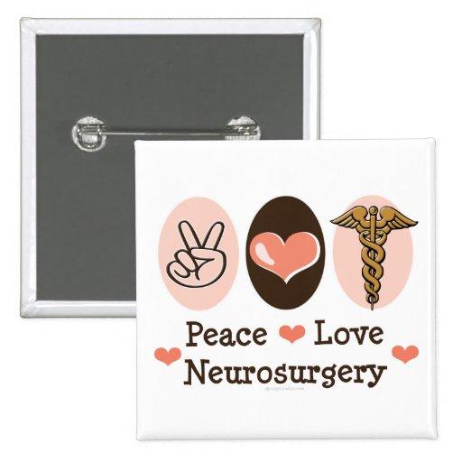 Pin de la neurocirugía del amor de la paz