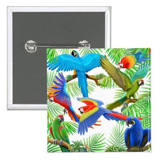 Pin de la selva del Macaw