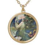 Pin de la sirena encima del arte del vintage del c pendientes personalizados