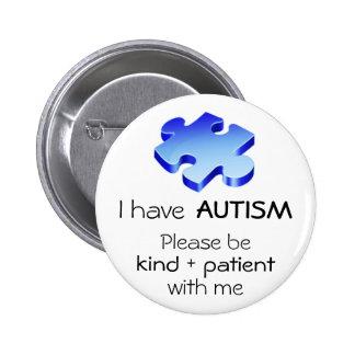 Pin de la solapa de la conciencia del autismo - bo pin redondo 5 cm