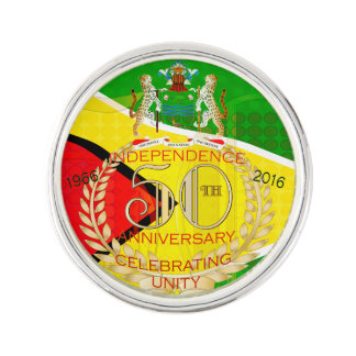 Pin de la solapa de la independencia de guyanés