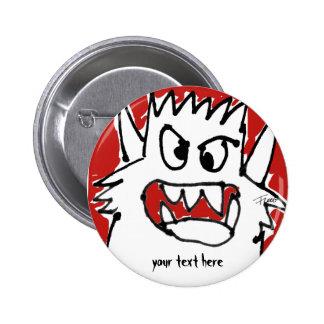 Pin de la solapa del botón del monstruo del dibujo