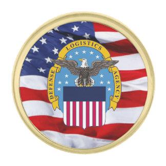 Pin de la solapa del escudo de la agencia de pins dorados