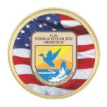Pin de la solapa del escudo del servicio de los